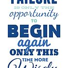 Failure! Vintage Typography Inspirational Design by spoll