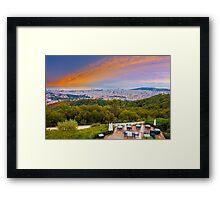 Barcelona Skyline, the view from Hotel La Florida, Tibidabo, SPAIN Framed Print