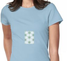 Pea Green Mosaic Womens Fitted T-Shirt