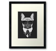 French Bulldog In Black Framed Print