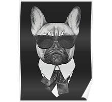 French Bulldog In Black Poster