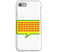 Blah Word bubble iPhone Case/Skin
