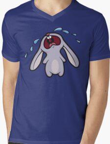 Bawling Bunny Mens V-Neck T-Shirt