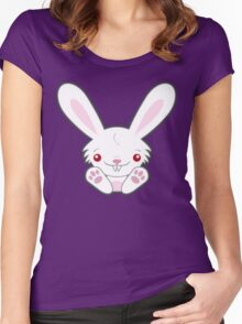 Cute Kawaii Vampire Bunny with Bite Women's Fitted Scoop T-Shirt