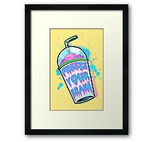 Freeze Your Brain Framed Print