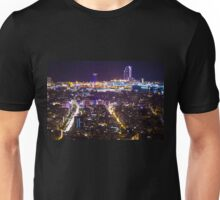 Bacelona by Night Unisex T-Shirt