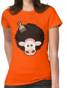 Afro Cow Womens Fitted T-Shirt