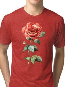 Watercolor rose Tri-blend T-Shirt