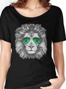 Lion with sunglasses Women's Relaxed Fit T-Shirt