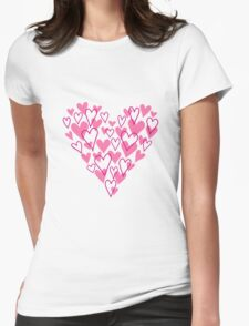Pink scribble heart, design for Valentine's day card, birthday T-Shirt