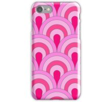 Hot pink,retro,vintage,1970 era,pattern,red,pink,hot pink,colorful,modern,trendy iPhone Case/Skin