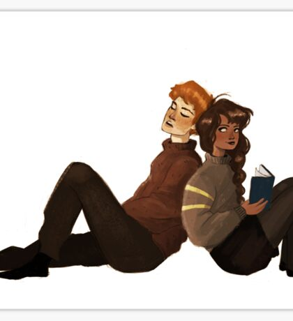 Ron and Hermione Sticker