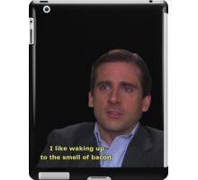 michael scott bacon quote  iPad Case/Skin