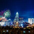 charlotte fireworks celebration by ALEX GRICHENKO