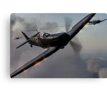 """Guns Blazing"" - Fantastic Digitial Painting of Spitfires in Battle / Spitfire WW2 Canvas Print"