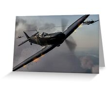 """Guns Blazing"" - Fantastic Digitial Painting of Spitfires in Battle / Spitfire WW2 Greeting Card"