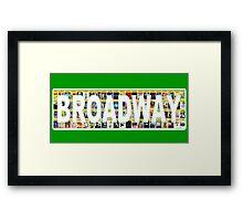 Broadway Playbill Design Framed Print
