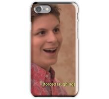 michael cera forced laughing  iPhone Case/Skin