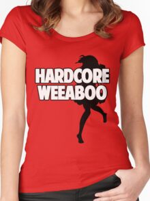 Hardcore Weeaboo (black silhouette) Women's Fitted Scoop T-Shirt