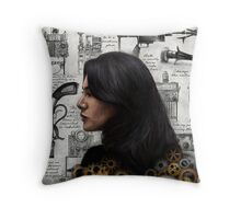 The Past is the Beginning of a Beginning Throw Pillow