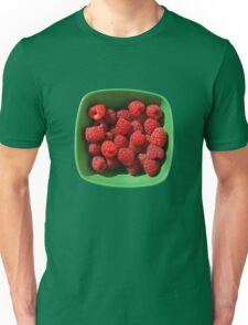 Raspberries in Green Bowl  Unisex T-Shirt