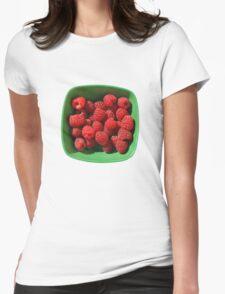Raspberries in Green Bowl  T-Shirt