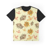 shabby chic сomposition with sea shells and flowers. Graphic T-Shirt
