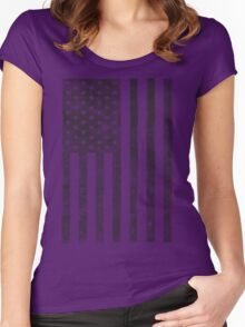 US Flag - Grey Women's Fitted Scoop T-Shirt