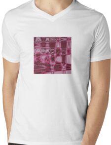 Pink Waves Mens V-Neck T-Shirt