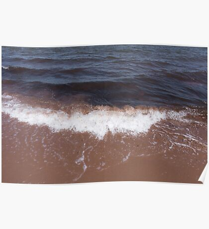Strong Waves at Beach Poster