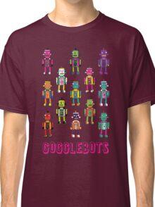 GoggleBots - robot pattern on Blue Classic T-Shirt