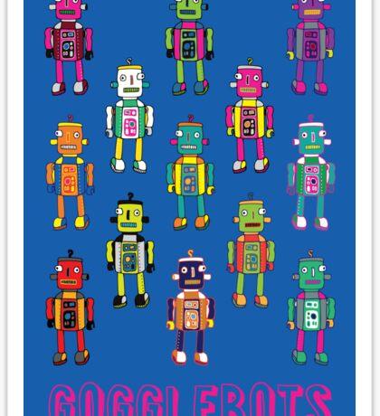 GoggleBots - robot pattern on Blue Sticker