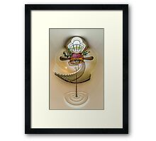 House interior in little planet view style, space distortion Framed Print