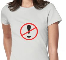 No Exclamation Womens Fitted T-Shirt