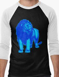 Light Blue Lion T-Shirts by Cheerful Madness!! Men's Baseball ¾ T-Shirt