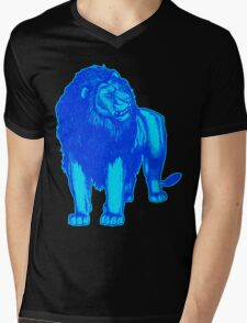 Light Blue Lion T-Shirts by Cheerful Madness!! Mens V-Neck T-Shirt