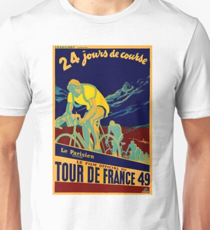 TOUR DE FRANCE; Vintage Bicycle Race Advertisment Unisex T-Shirt