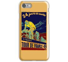 TOUR DE FRANCE; Vintage Bicycle Race Advertisment iPhone Case/Skin