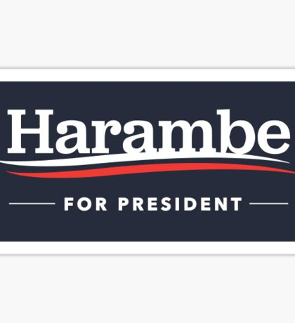 Harambe for President Sticker