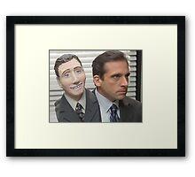 michael scott head halloween Framed Print