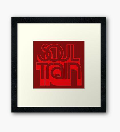 SOUL TRAIN (RED) Framed Print