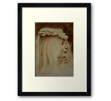 The Pearl Headdress  Framed Print