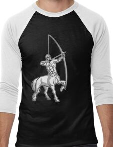 White Centaur Aiming High T-Shirt by Cheerful Madness!! Men's Baseball ¾ T-Shirt