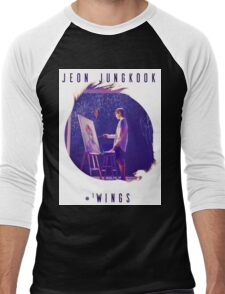 Wings - JungKook #WINGS Men's Baseball ¾ T-Shirt