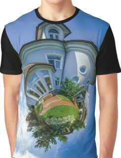 Little planet view of the beautiful house, distortion of space Graphic T-Shirt