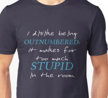 BBC Sherlock I dislike being outnumbered Unisex T-Shirt