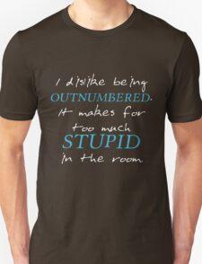 BBC Sherlock I dislike being outnumbered T-Shirt
