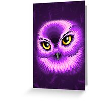 Pink Owl Eyes Greeting Card