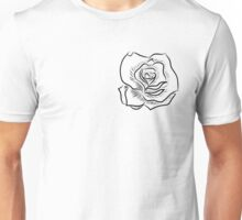 Black and white rose Unisex T-Shirt