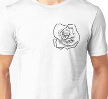 Black and white rose Unisex T-Shirt
